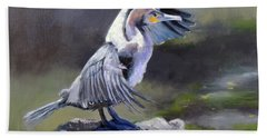 Tiber River Cormorant Beach Towel