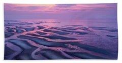 Tidal Flats Sunset Beach Towel