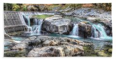 Tiger Creek In Fall #1 Beach Towel