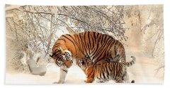 Tiger Family Beach Towel