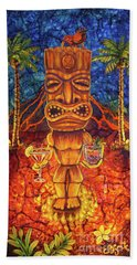 Tiki Cocktail Hour Beach Towel