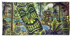Tiki Genie's Sacred Pools Beach Towel