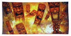 Tiki Hot Spot Beach Towel