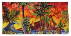 Tiki Surf A Lot Beach Towel