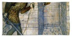 Tile Design - Theseus And The Minotaur In The Labyrinth Beach Towel