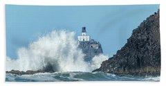 Tillamook Rock Light House, Oregon - Terrible Tilly Beach Towel