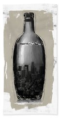 Time In A Bottle 2- Art By Linda Woods Beach Towel