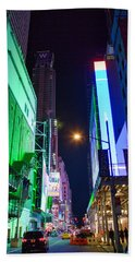 Beach Towel featuring the photograph Time Square 2 by Jacqui Boonstra