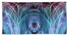 Beach Towel featuring the digital art Time Traveler by Robert G Kernodle
