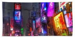 Times Square - The Light Fantastic 2016 Beach Towel