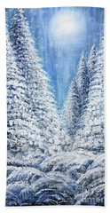 Tim's Winter Forest 2 Beach Towel