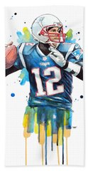 Tom Brady, Patriots, Nfl Beach Towel