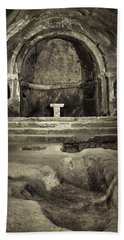 Tomb And Altar In The Monastery Of San Pedro De Rocas Beach Towel