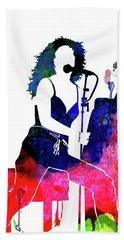 Tori Amos Watercolor Beach Towel