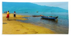 Tourists In Lang Co 2 - Hue, Vietnam Beach Towel