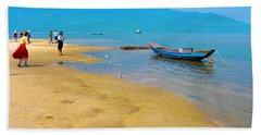 Tourists In Lang Co 1 - Hue, Vietnam Beach Towel