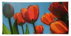Towering Tulips Beach Sheet