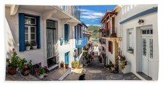 Town Of Skopelos Beach Towel