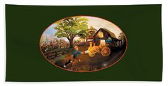 Tractor And Barn Beach Towel