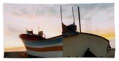 Traditional Wooden Fishing Boat Beach Sheet