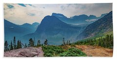 Beach Towel featuring the photograph Trail To Grinnell Glacier by Lon Dittrick