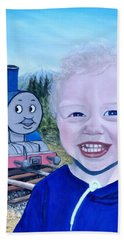 Beach Towel featuring the painting Train by Kevin Daly