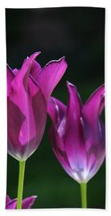 Translucent Tulips Beach Towel