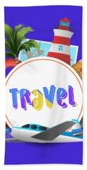 Travel World Beach Towel