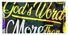 Beach Towel featuring the digital art Treasure God's Word by Passion Give