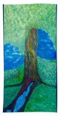 Tree Fountain Beach Towel