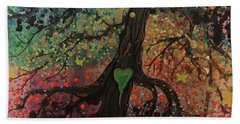 Tree Of Life Chakra Tree Beach Towel