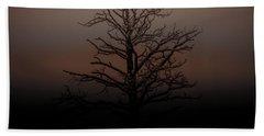 Tree Silhouette  Beach Towel