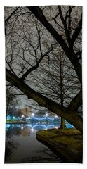 Trees And Lights Beach Towel