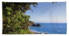 Trees And Ocean Beach Sheet