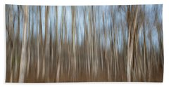 Trees In The Forest Beach Towel