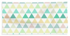 Triangle Abstract Background- Efg204 Beach Towel