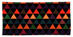 Triangle Abstract Background- Efg208 Beach Towel