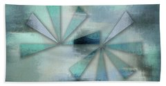 Triangles On Blue Grey Backdrop Beach Towel