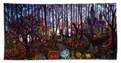 Trick Or Treat Sleepy Hollow Beach Towel