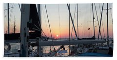 Beach Towel featuring the photograph Trieste Sunset by Helga Novelli