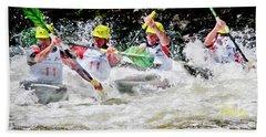 Triple Crown Kayak Race Beach Towel
