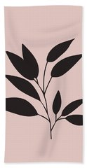 Tropical Blush Pink Leaf IIi Beach Towel