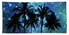 Tropical Night Beach Towel