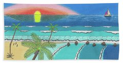 Tropical Sunrise Beach Towel