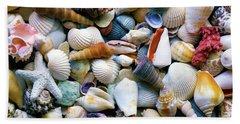 Beach Towel featuring the photograph Tropical Treasure Seashells A91218 by Mas Art Studio