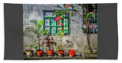 Beach Towel featuring the photograph Tropical Wall by Michael Arend