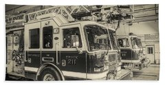 Truck And Engine 211 Beach Towel