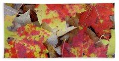 True Autumn Colors Beach Sheet