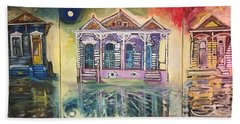 Tryptic On The Bayou New Orleans Beach Towel