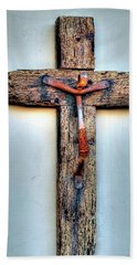 Beach Towel featuring the photograph Tubac Cross by Jerry Sodorff